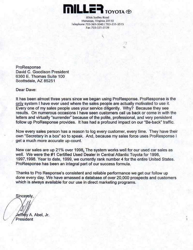 Koons Chevrolet White Marsh >> ProResponse.com   Automotive CRM   Email Follow-up Letters ...